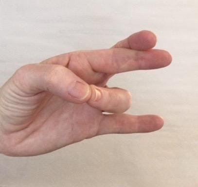 Pali Mudra, for trusting inner guidance